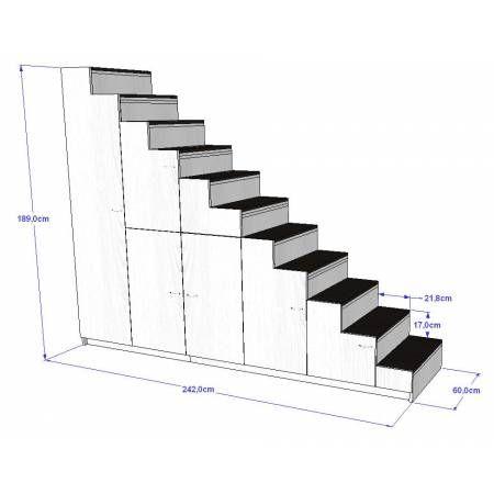 Les 25 meilleures id es de la cat gorie lit avec rangement int gr sur pinter - Escalier rangement integre ...