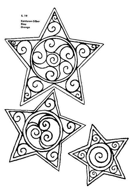 Great Stars Template- for use in Embroidery, these would good to add to anything! Also, they would make AWESOME ornaments/ hanging decorations: Embroider the designs on Felt, Cut Out a Front & Back & Sew Together!!