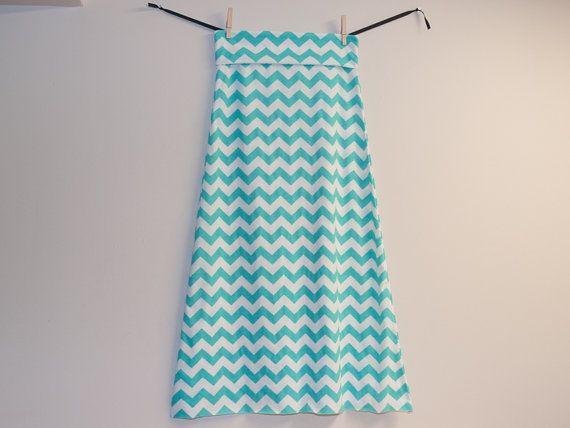 Tiffany Blue Maxi Skirt Maxi Skirt Floor Length by KarolinaDesigns,