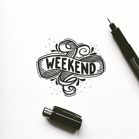 Here's to the weekend. Type by @rigosreactions   #typegang - typegang.com   typegang.com #typegang #typography