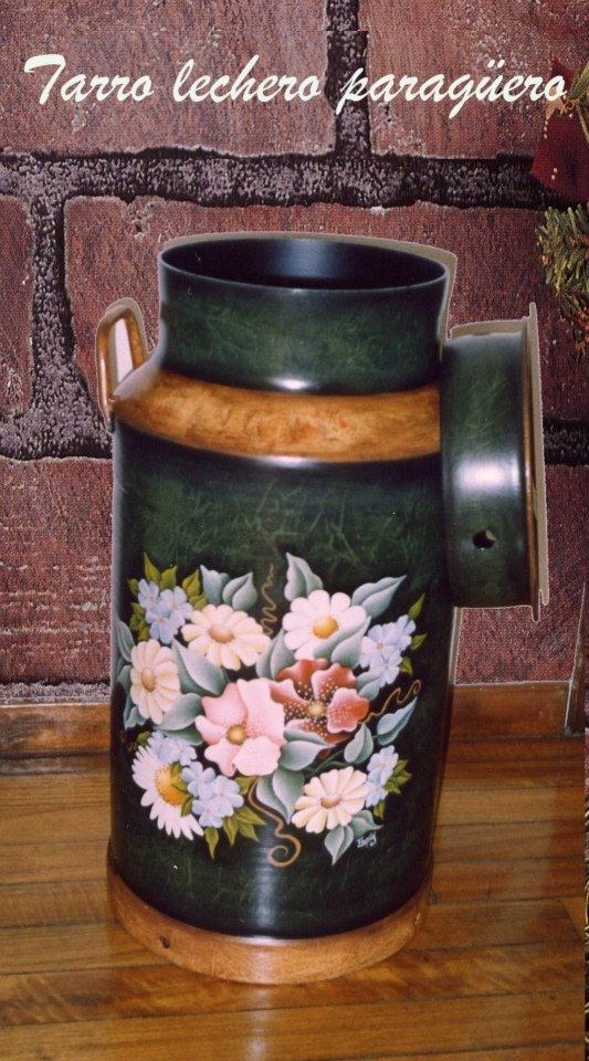 Tarro lechero decorado