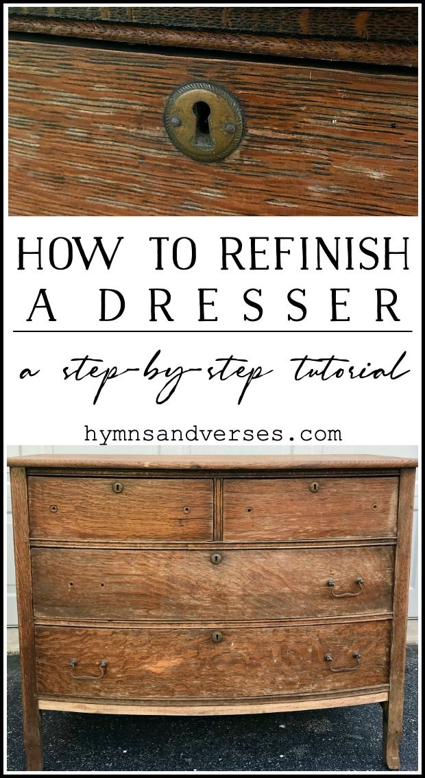 How To Refinish A Dresser A Complete Tutorial Dresser Refinish