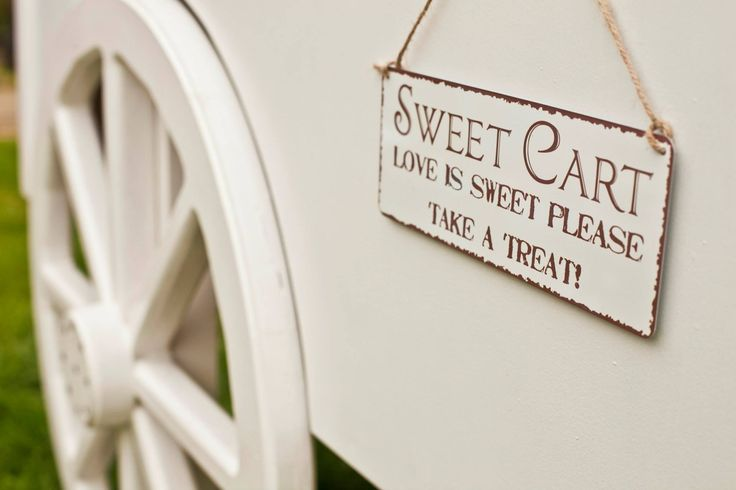 One of the sweet cart signs