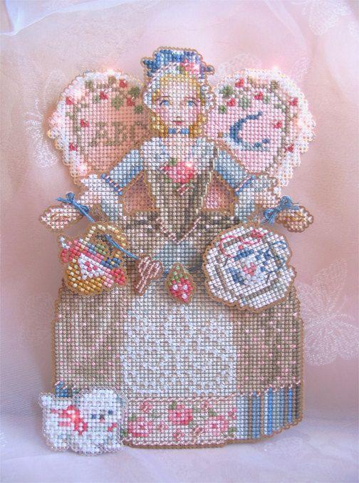 Brooke's Books Spirit of Cross Stitch Angel Ornament Cross Stitch Chart Only