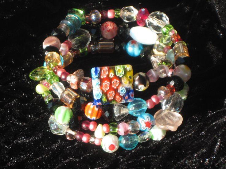 Italian art glass bead bracelt