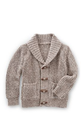 Oshkosh B'gosh Shawl Collar Cardigan - Brown - 18 Months
