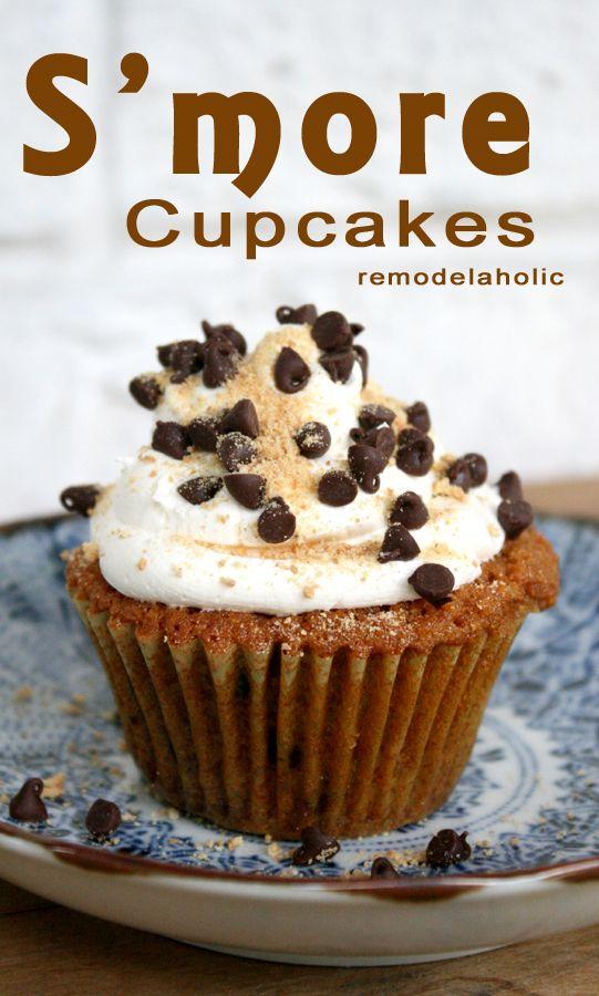 S'more cupcakes @Alyssa Lesko...