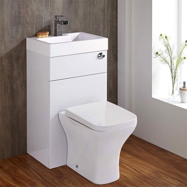 Gloss White Toilet with Integrated Basin in 2020 | Toilet ...