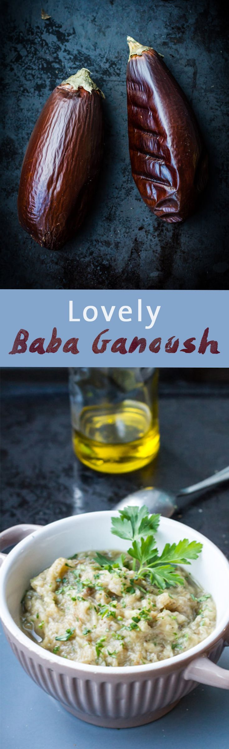 Lovely Baba Ganoush Recipe | Simple Eggplant, Garlic, Lemon and Olive oil recipe | www.haveanotherbite.com | #recipe #yum #arabic
