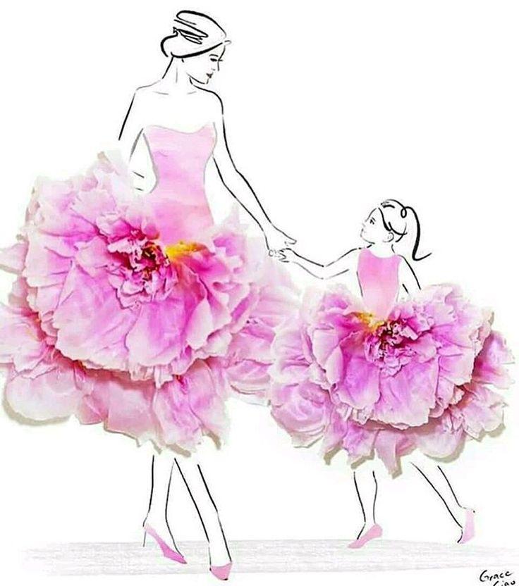 Открытки платья из цветов, смешные