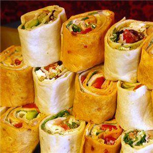 Tower Wraps, Castle party food