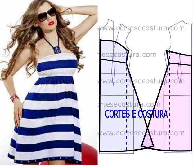 Existem trabalhos em costura que são básicos e este vestido fácil de costurar é…