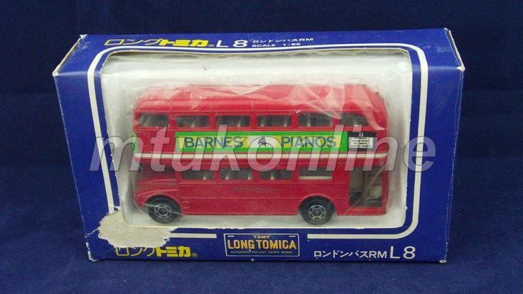 LONG TOMICA L8 LONDON BUS | 1/86 | JAPAN | DOUBLE DECKER LIVERPOOL ST.