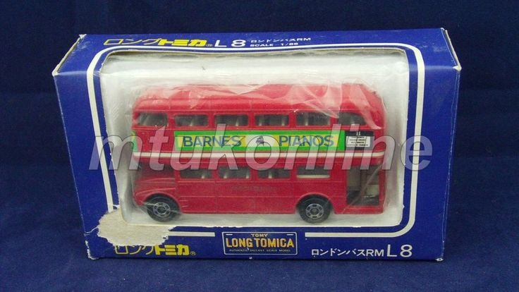 LONG TOMICA L8 LONDON BUS | 1/86 | JAPAN | DOUBLE DECKER LIVERPOOL ST.