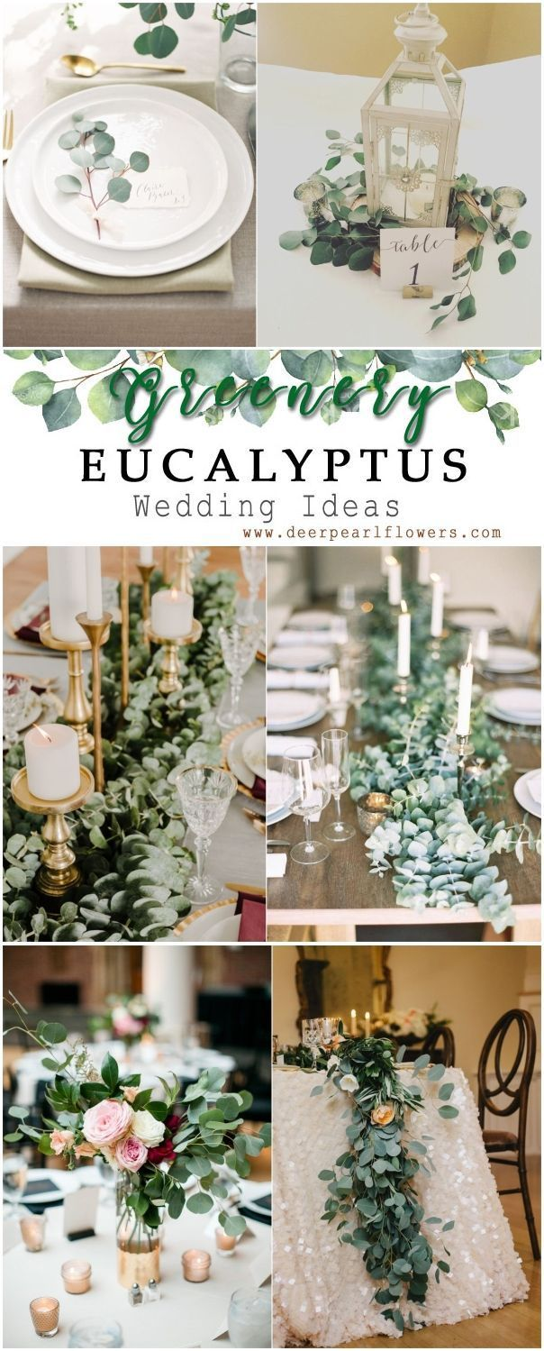Grüne Eukalyptus-rustikale Hochzeitsdekor-Ideen # Grüne # Hochzeit # Hochzeit