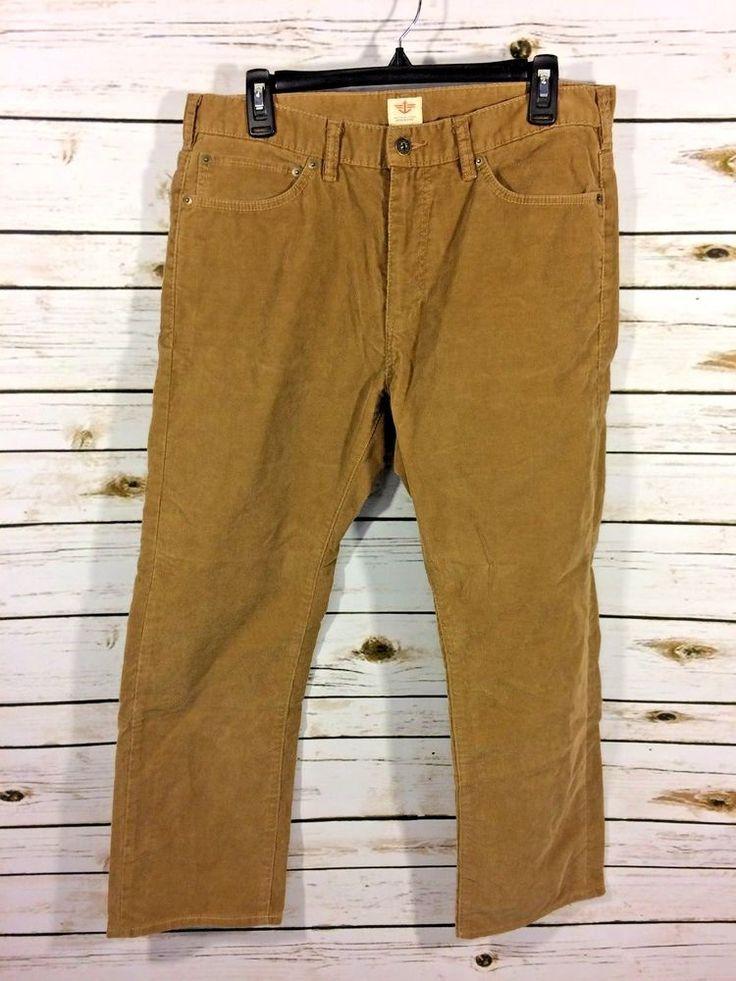 Dockers Mens Pants Size 33 Corduroy Straight Fit Cotton Blend #DOCKERS #Corduroys