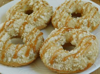 Weight watcher recipes, Apple crisp donuts with caramel drizzle by drizzle me skinny