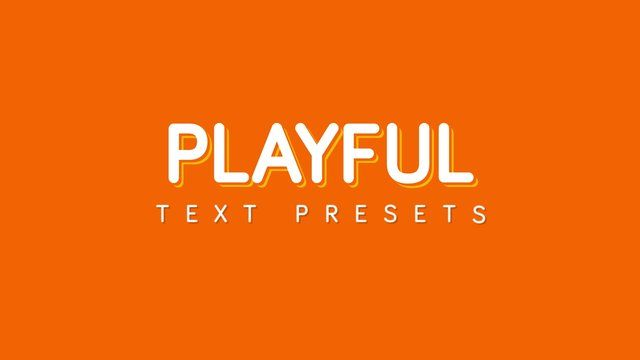 15 Playful Text Animation Presets for After Effects