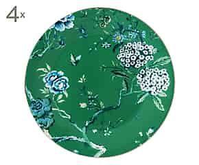 Set van 4 dinerborden Jasper Conran Chinoiserie Green, diameter 27 cm via westwing   betaalbaar interieur   bespaarmama