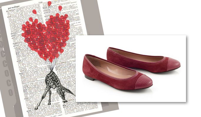 Bordeaux Suede Ballerina by Chaniotakis! Perfect for Valentine!