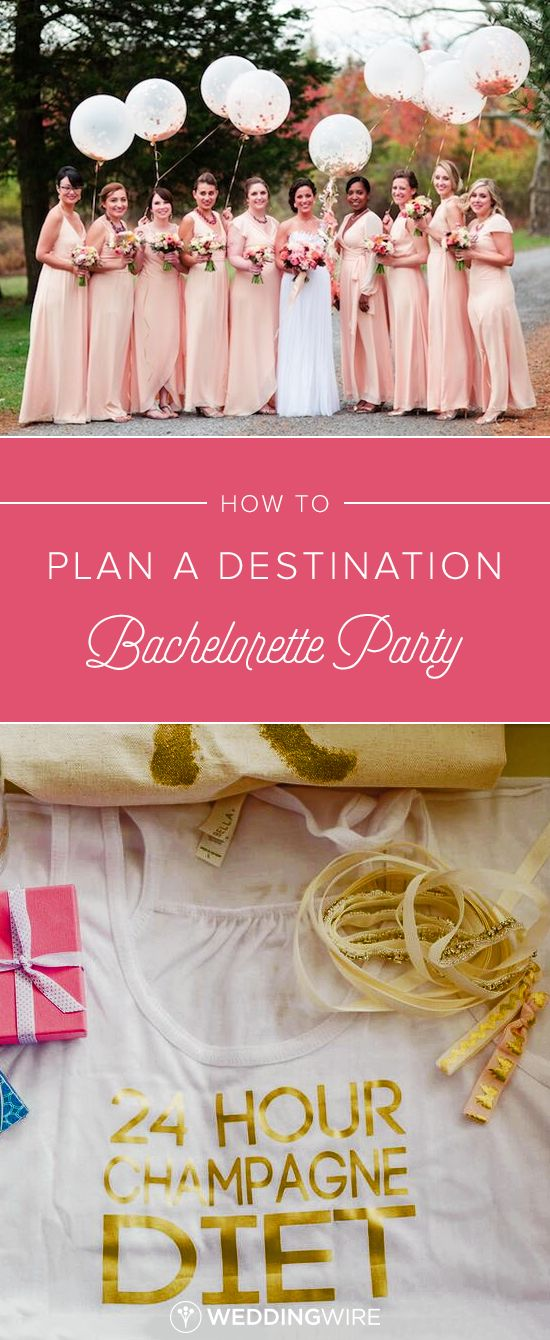How to Plan a Destination Bachelorette Party - Planning a trip for the bride-to-be? Check out our checklist of how to plan the perfect destination bachelorette party on @weddingwire!  {Asya Photography, PhotoHouse Films}