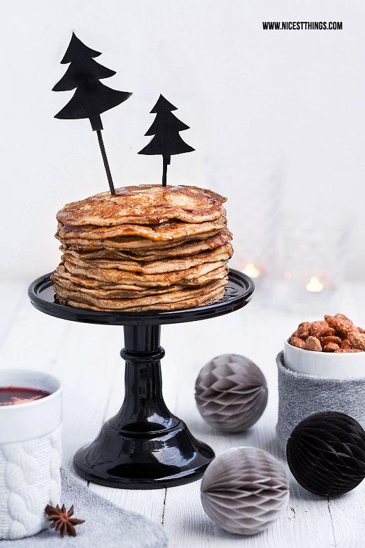 Weihnachtsfrühstück: Karamell Pancakes, gebrannte Mandeln, Glögg