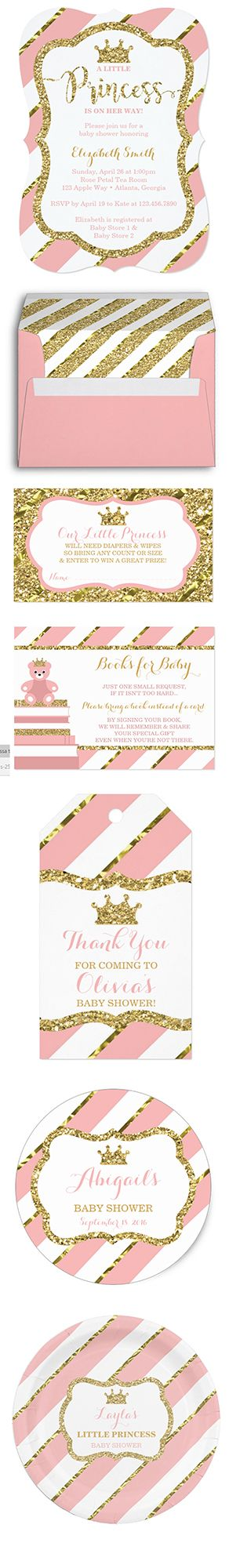 Little Princess Baby Shower in Pink and Gold by DeReimer DeSign