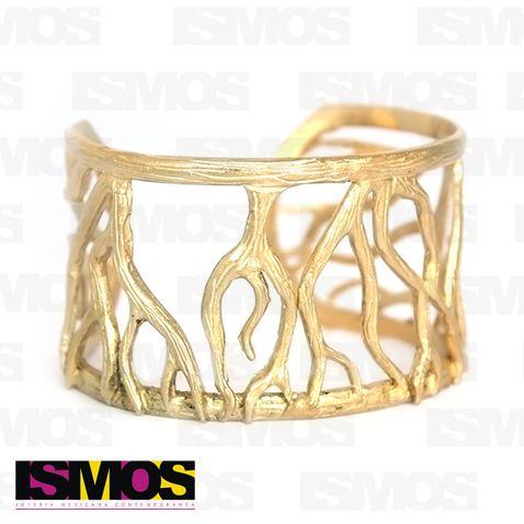 ISMOS Joyería: brazalete dorado de raíces // ISMOS Joyería: gold plated roots bangle