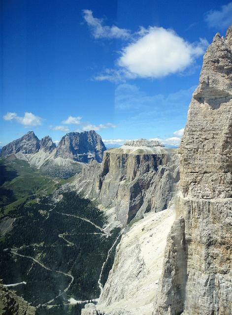 Sass Pordoi in the Dolomites #Italy