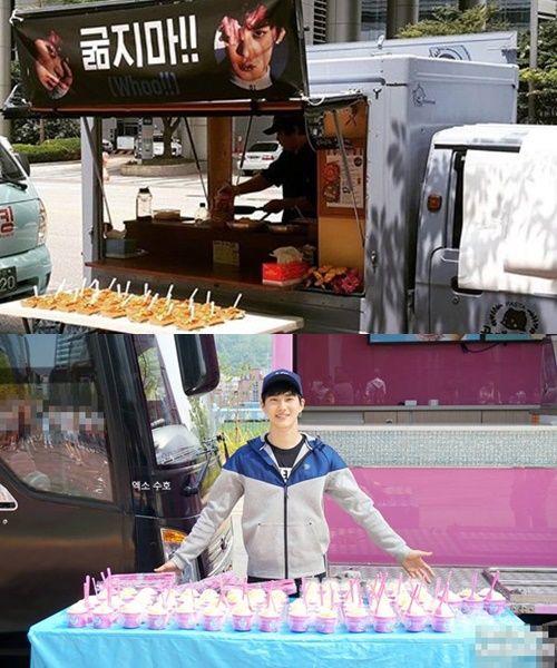 Suho And Exo S Food Truck Food Truck Kpop Idol Food
