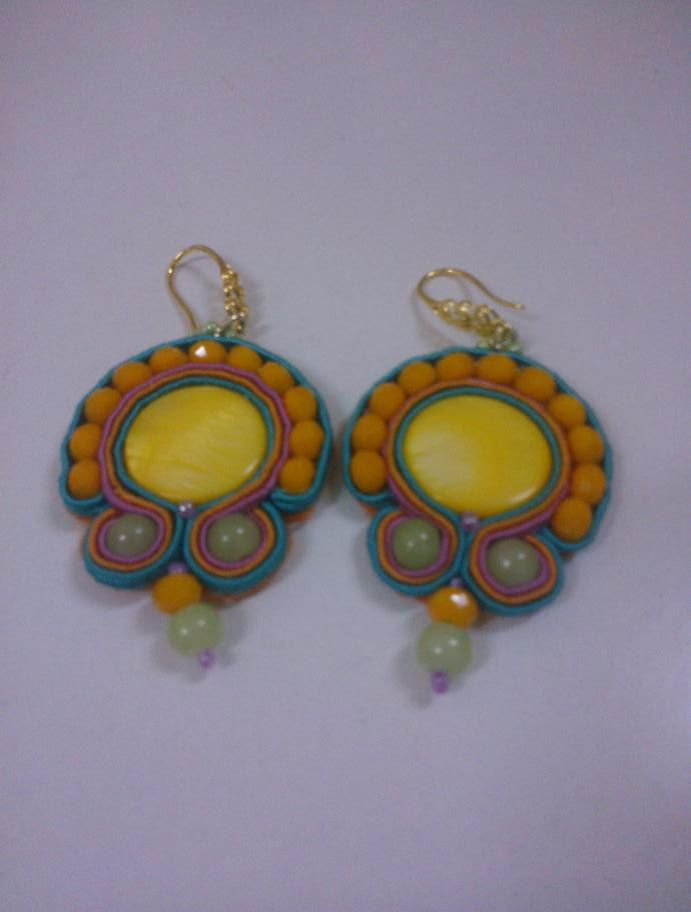 Orecchini Modello Mexico Mexico earrings  Soutache #Tania De Trizio @detrizio