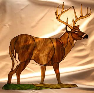 Obsession Art Glass Stained Glass Kits and patterns stained glass buck deer