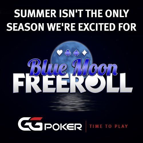 Two more days before our ice-cold 'Blue Moon Freeroll' kicks off this Friday. The tournament boasts $400 in cash prizes and an additional $75 in ticket prizes.  Put your wellies and scarf on and we'll see you at the tables. The tournament can be found in the listings now in blue lettering. Just hit register and play - it couldn't be easier.  #tournament #poker #ggpoker #irishpoker #bluemoon #lunar #autumn #equinox #fall #harvest #value #freeroll #pokerfans #pokertournament #value…