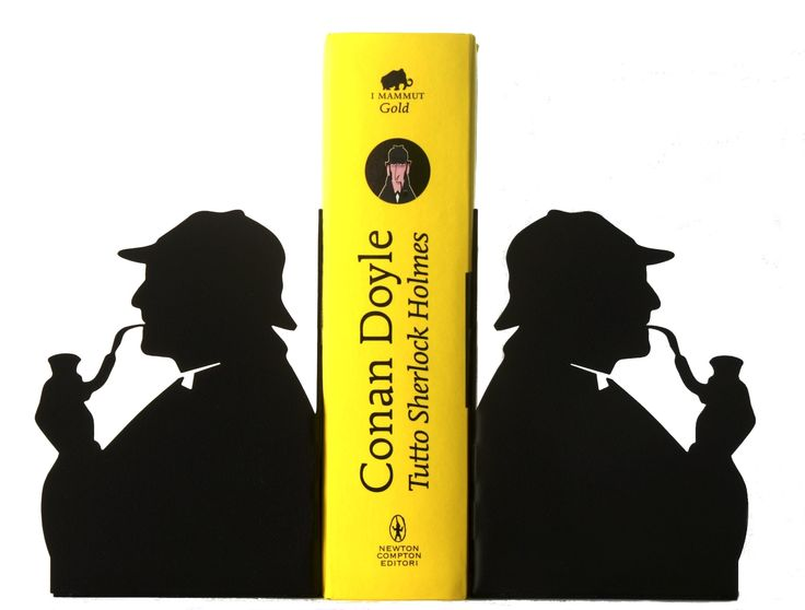 Come tenere in ordine la collezione di libri gialli? #Elementare #Watson ! #Reggilibro con la #silhouette di #SherlockHolmes #Sherlock #Holmes