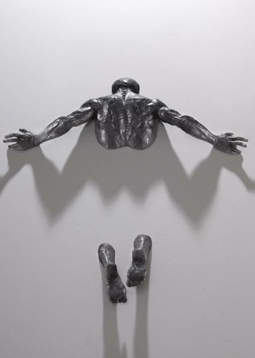 realistische Wand Skulpturen arme rücken                                                                                                                                                                                 Mehr