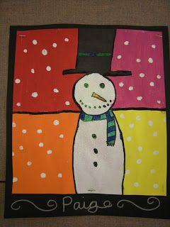 Artolazzi: Warm/Cool Snowmen Paintings