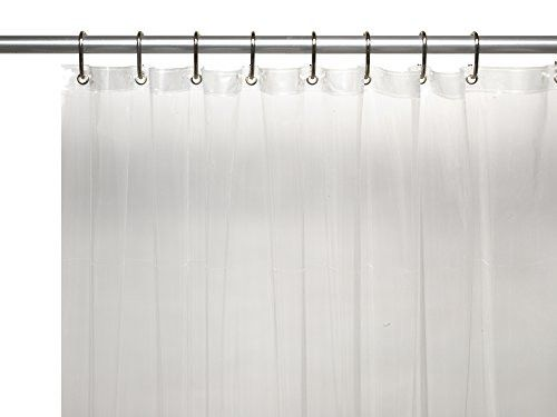Park Avenue Deluxe Collection Park Avenue Deluxe Collection Hotel Collection 8 Gauge Vinyl Shower Curtain Liner w/ Metal Grommets in Super Clear