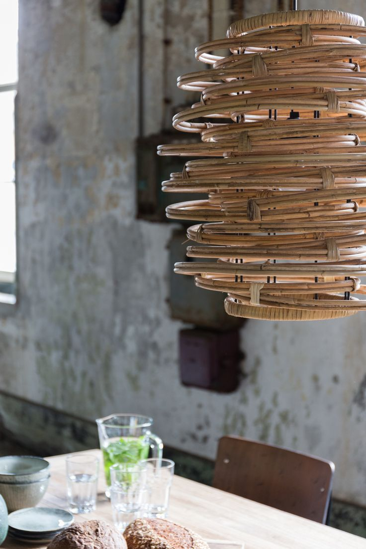 Make a statement with your lighting with this Hanging Rattan Lamp by Dutchbone, now available at cuckooland.com