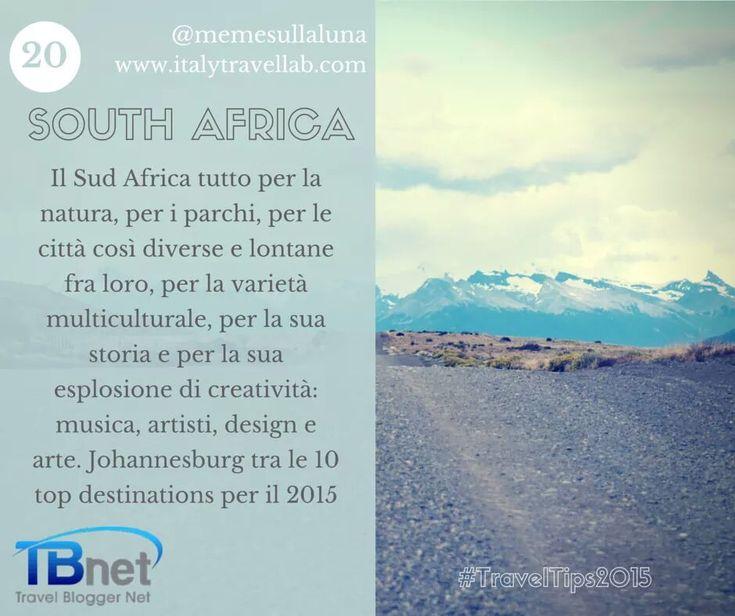 Il mio #TravelTips2015 !? non posso che dirvi #SudAfrica! #tbnet di Francesca Tammarazio