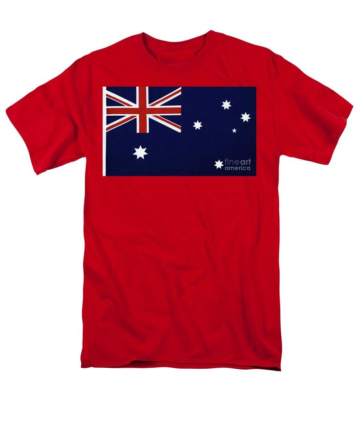 Photography Men's T-Shirt (Regular Fit) featuring the photograph Australian Flag…