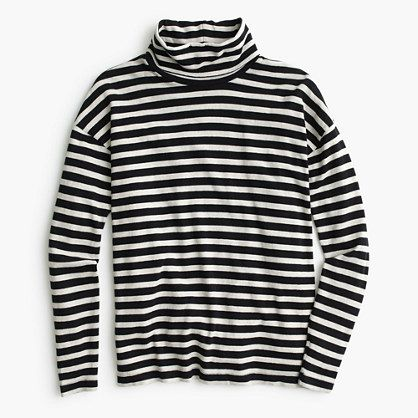 Oversized striped turtleneck : 50% off select final sale styles | J.Crew