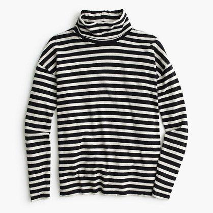 Oversized striped turtleneck : T-Shirts & Tank tops | J.Crew