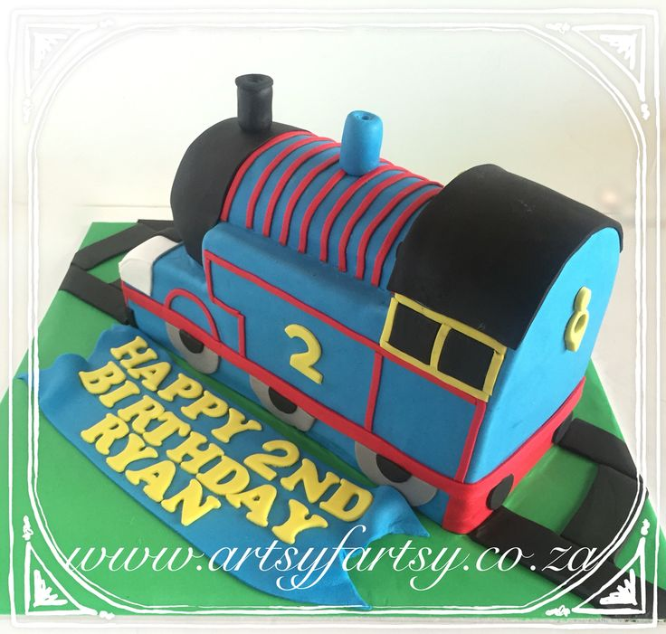 Thomas the Tank Engine Cake #thomasthetankenginecake