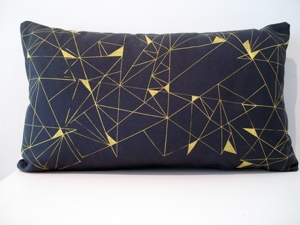 Geometric Pillow by Lines by Davis: Cool and Modern graphic print. It makes me think of diamonds.: Pattern, Cushions, Geometric Design, Crafts Pillows, Geometric Pillow