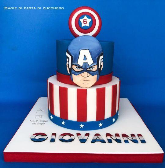 Fabulous Captain America Birthday Cake With Images Captain America Funny Birthday Cards Online Alyptdamsfinfo
