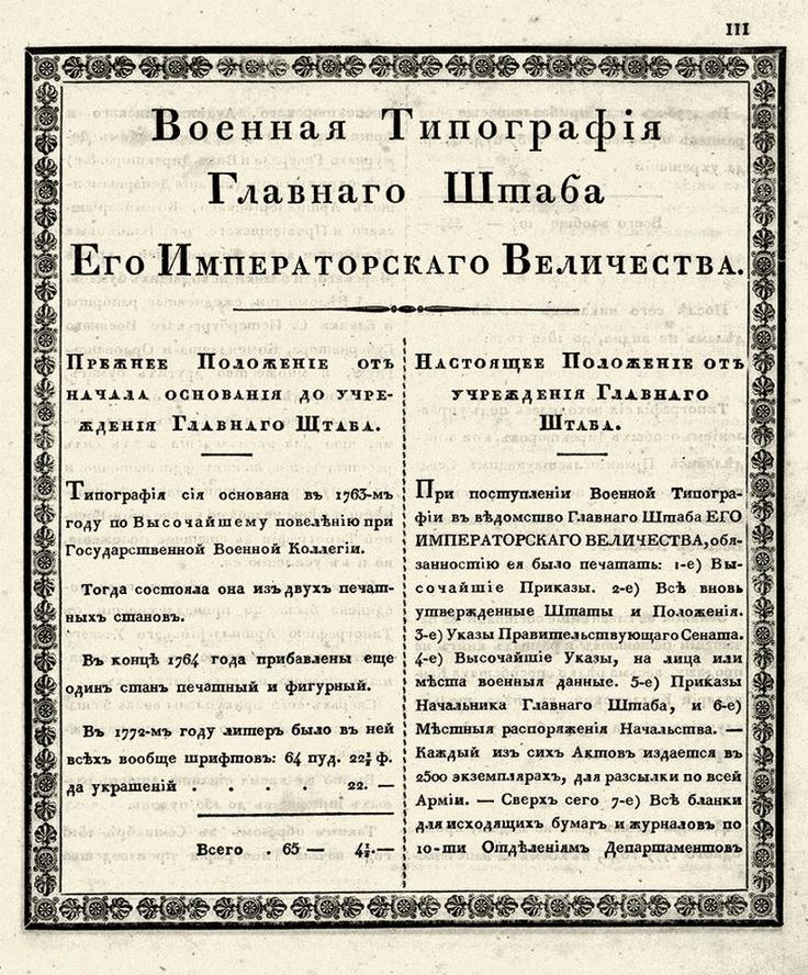 Образцовые шрифты Военной Типографии-С.П-1821