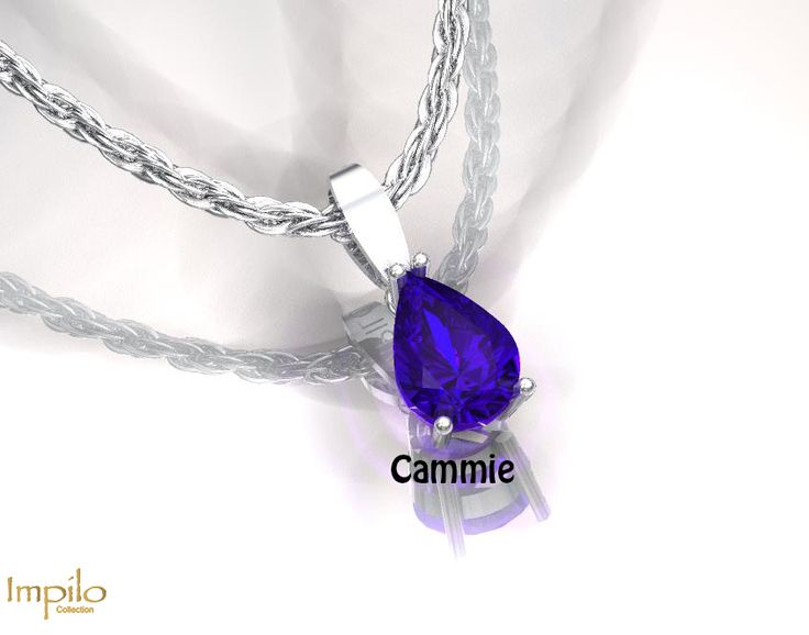 """""""Cammie"""" - This attractive pear shaped tanzanite is in a four claw setting."""