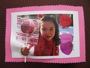 Valentine's Day Lollipop Card #valentines: Card Valentines, Valentines Crafts, Crafts For Kids, Valentine Card, Photo Valentines, Lollipop Card, Crafty Kids, Card Crafts, Photo Cards Crafts