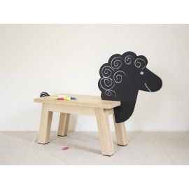 Original collection of stools in the shape of animals. Stools stimulate a child's imagination by allowing them to draw. With the high quality processing, we assume that these animals can literally grow with their owners because their head and tail are removable. We believe that the stool will be a practical aid in adulthood. All paints used conform to European standards for use on children's toys and food contact.