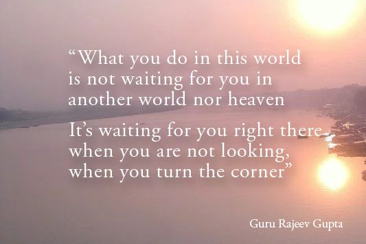 Late recently, Guru Rajeev Gupta mixed Eastern Philosophy with great doses of humor to show us a moving truth